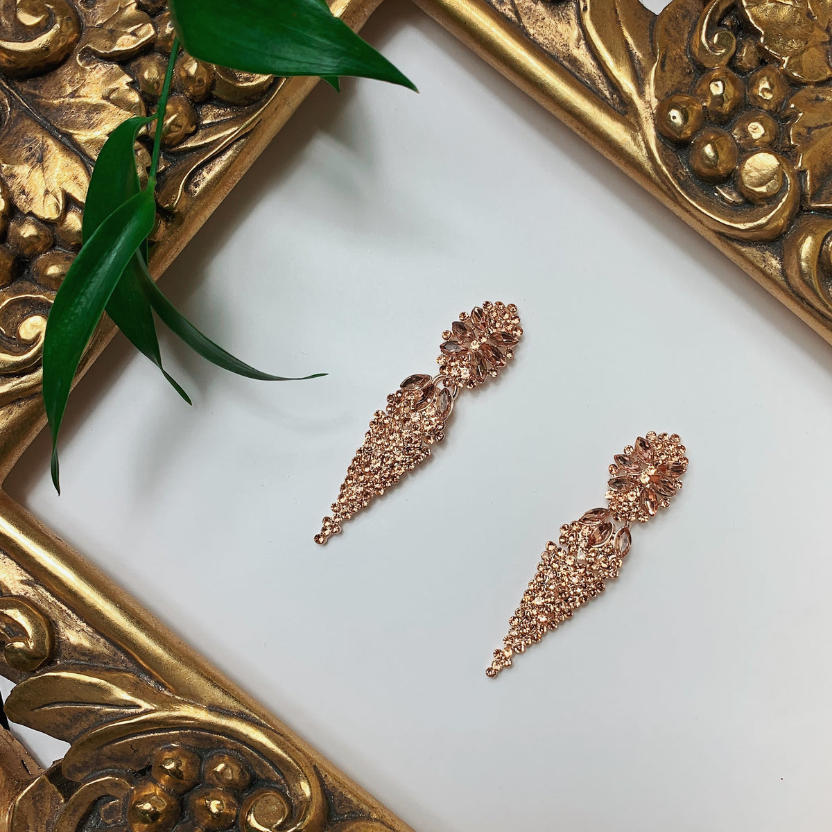 DIAMOND TEARS EARINGS | ROSEGOLD
