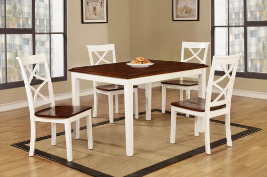 D3377 (5 IN 1) 5Pc White Cherry Dining Set