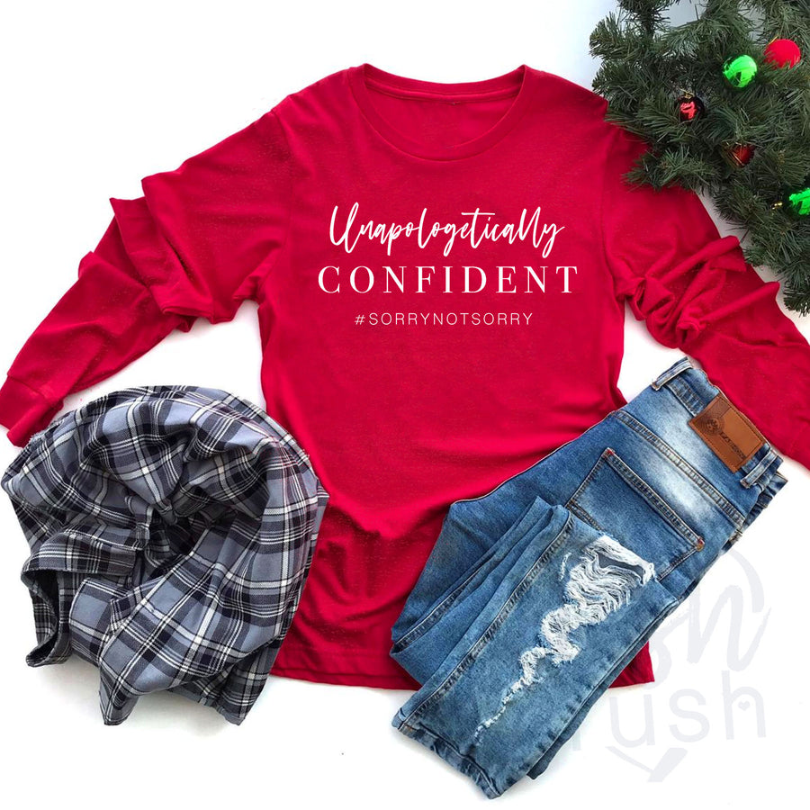 ROCKING HOLIDAY COLLECTION  - Confident Girl Brand TShirt - Unapologetic