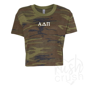 Alpha Delta Pi - Camo Crop Top