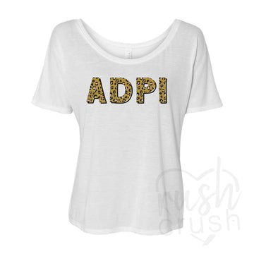 sorority cheetah print shirt