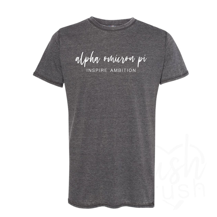 Alpha Omicron Pi -Inspire Ambition Acid Wash Tee