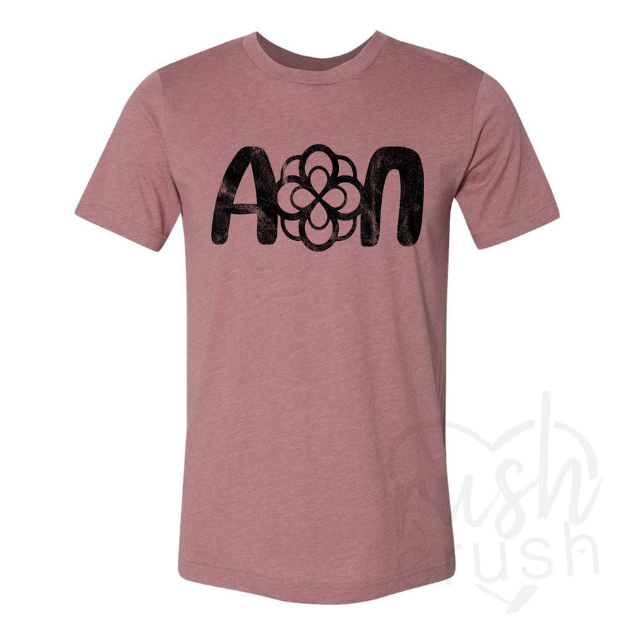 Alpha Omicron Pi - Inspire Ambition Distressed Heart T-Shirt