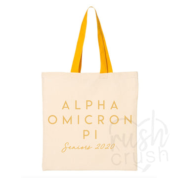 Alpha Omicron Pi - Seniors 2020 Canvas Tote Bag