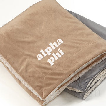 Alpha Phi - Sherpa Throw Blanket