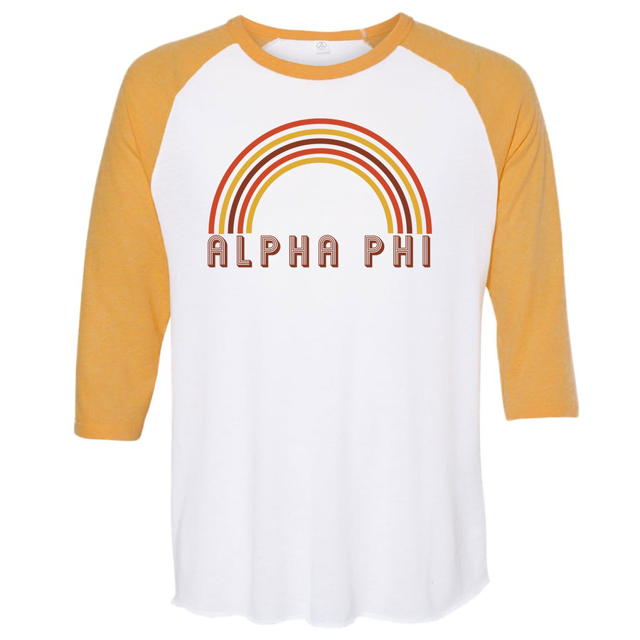 Alpha Phi - Retro Rainbow T-Shirt