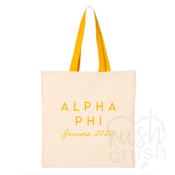 Alpha Phi - Seniors 2020 Canvas Tote Bag