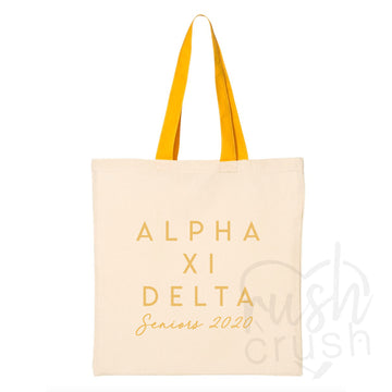Alpha Xi Delta - Seniors 2020 Canvas Tote Bag