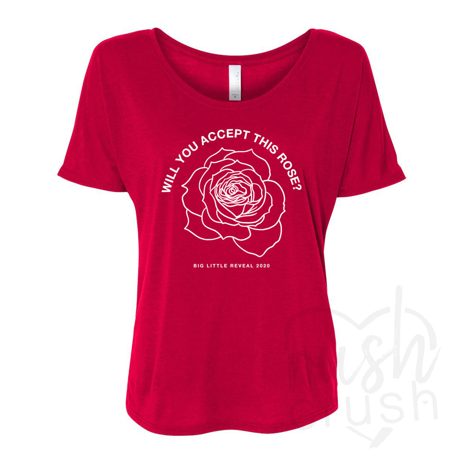 Bachelor Inspired Big Little Reveal Slouchy T-Shirt - Two Designs!