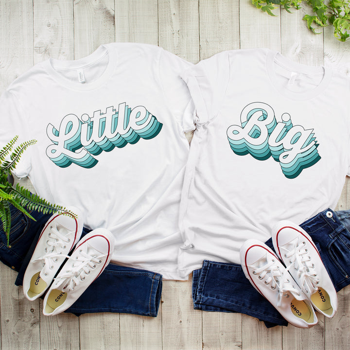SUMMER SALE! Blue Retro Big Little Family Shirts