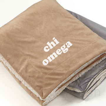 Chi Omega - Sherpa Throw Blanket