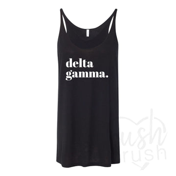 Delta Gamma - Black and White Tank