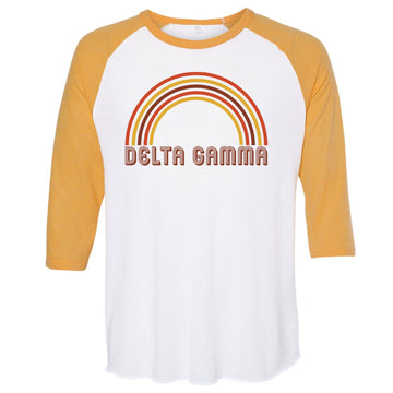 Delta Gamma - Retro Rainbow T-Shirt