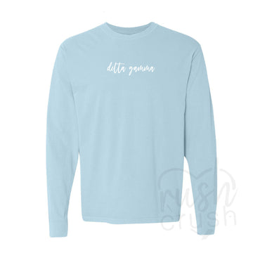 Delta Gamma - Script Long-Sleeve T-Shirt