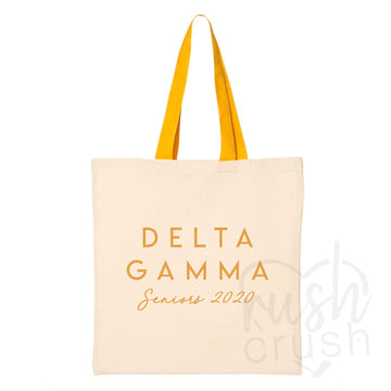 Delta Gamma - Seniors 2020 Canvas Tote Bag