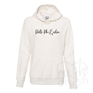 Delta Phi Epsilon - French Terry Lace-Up Hoodie