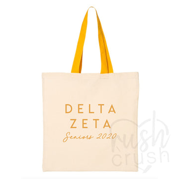Delta Zeta - Seniors 2020 Canvas Tote Bag