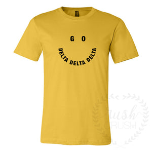Yellow Smiley Recruitment Tee *Available For All Organizations!*