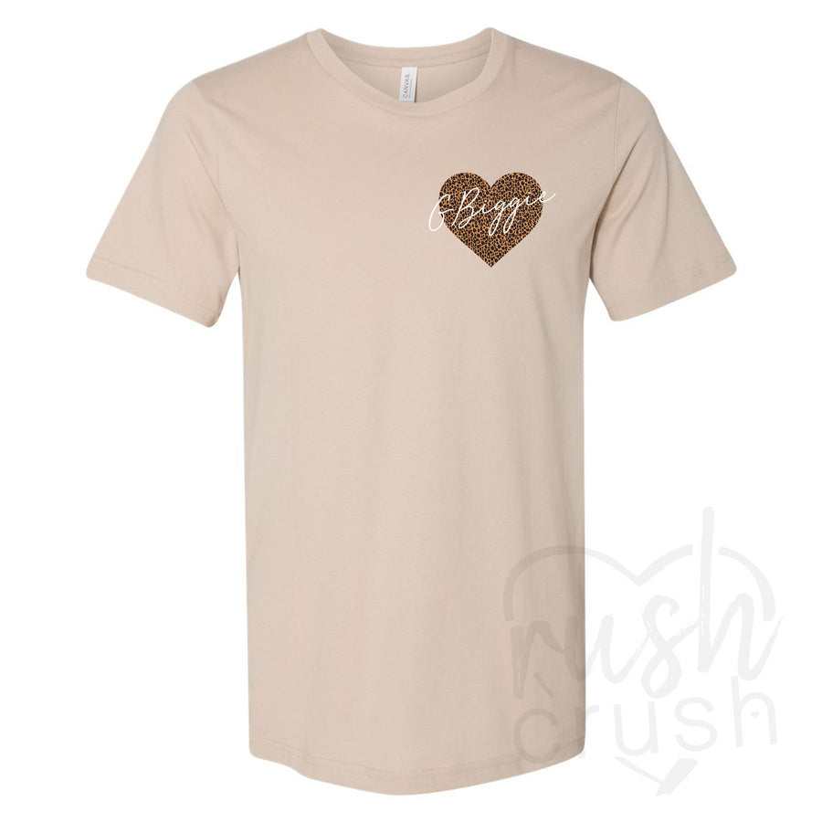 Big and Little - Cheetah Heart T-Shirts