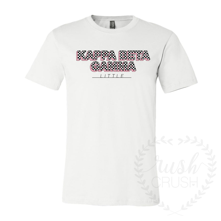 Kappa Beta Gamma Checker Big Little Tee