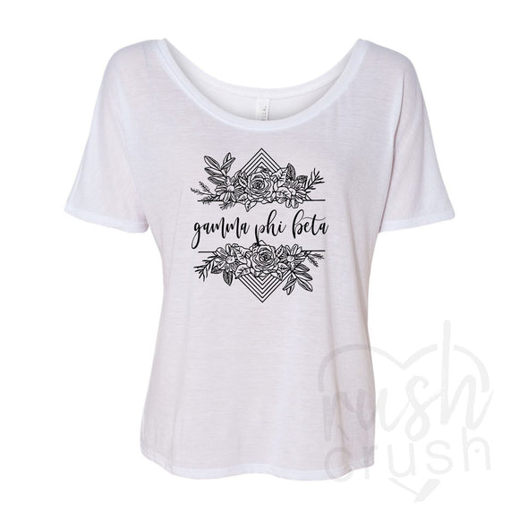 Gamma Phi Beta - Rose Bunch Slouchy T-Shirt