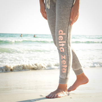 Alpha Delta Pi - Smokey Heather Grey Joggers