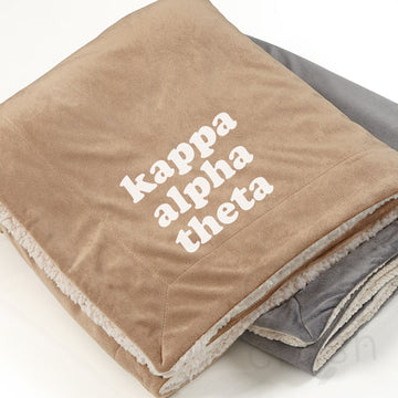 Kappa Alpha Theta - Sherpa Throw Blanket