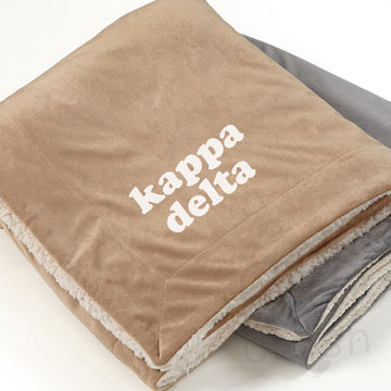 Kappa Delta - Sherpa Throw Blanket