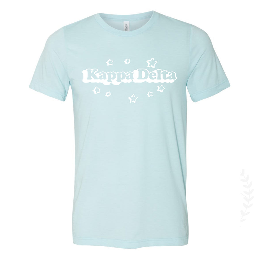 Shooting Stars Sorority Tee in Light Blue *Available for Multiple Orgnaizations
