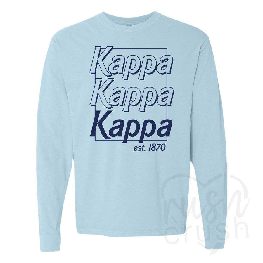 CLEARANCE Kappa Kappa Gamma Comfort Colors Long Sleeve Shirt
