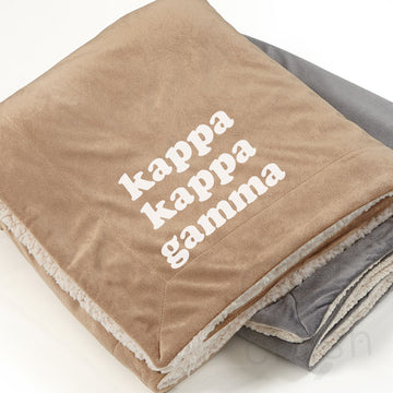Kappa Kappa Gamma - Sherpa Throw Blanket