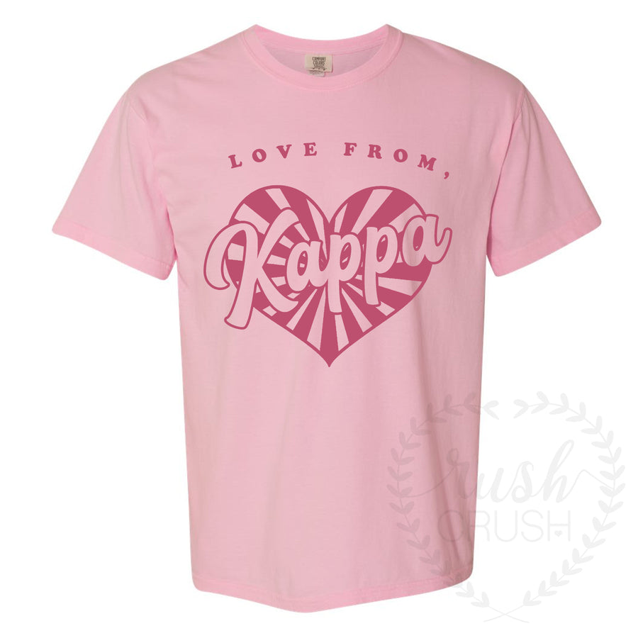 Love From Kappa Comfort Colors T-Shirt