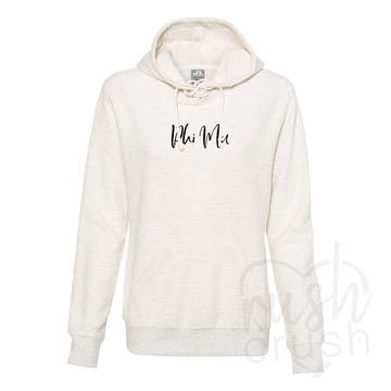 Phi Mu - French Terry Lace-Up Hoodie