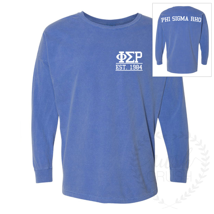 Phi Sigma Rho Comfort Colors Game-Day Drop-Shoulder Jersey *More Colors Available!
