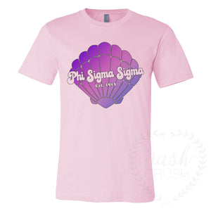 Phi Sigma Sigma Mermaid Ombre Shell Tee
