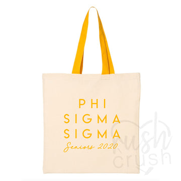 Phi Sigma Sigma - Seniors 2020 Canvas Tote Bag