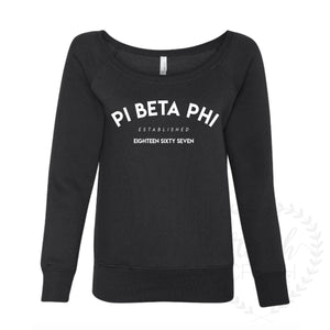 Pi Beta Phi Established Drop-Shoulder Sweatshirt