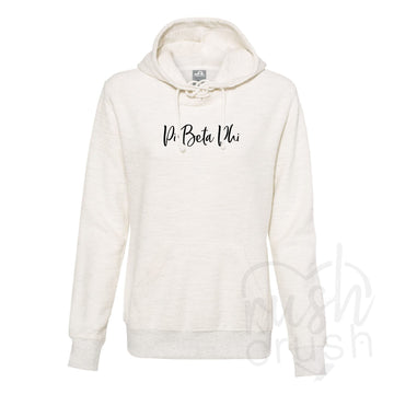Pi Beta Phi - French Terry Lace-Up Hoodie
