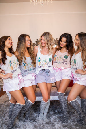 Cactus Bridal Party Flowy Tank Tops