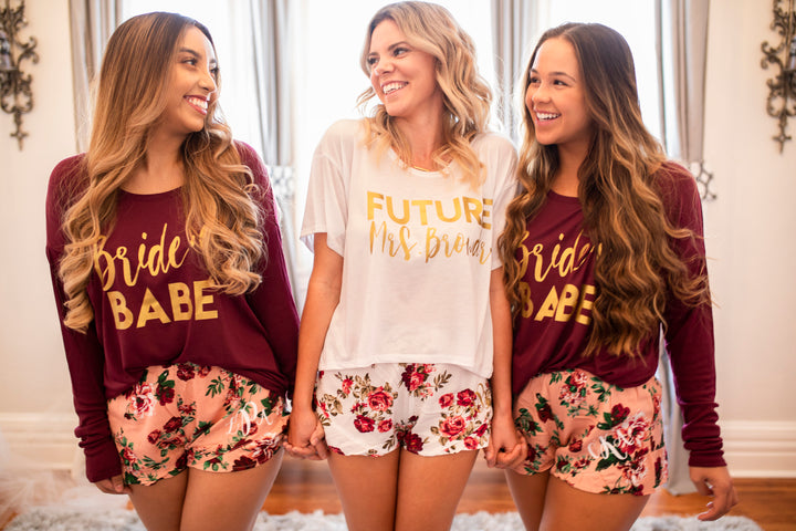 Bridal Party Long Sleeve Tees and Future Mrs Boxy Tee