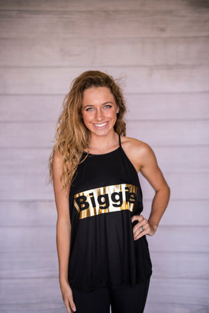 Biggie and Smalls High Neck Tanks - Gold Foil