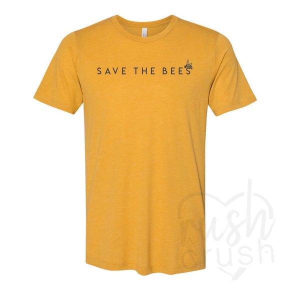 Save The Bees Mustard T-Shirt