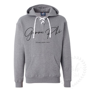 Gamma Phi Beta Grey Hockey Hoodie