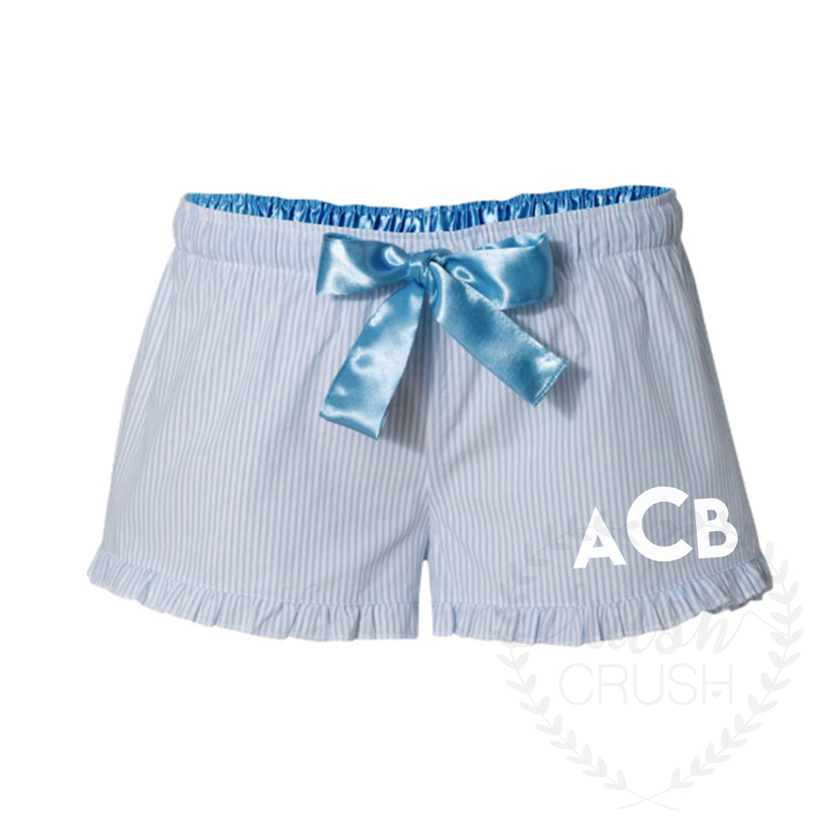 Monogrammed Shorts, Bridal Party Pajama Shorts