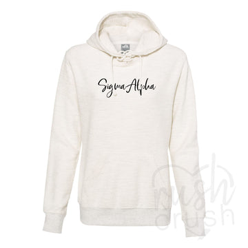Sigma Alpha - French Terry Lace-Up Hoodie