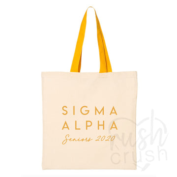 Sigma Alpha - Seniors 2020 Canvas Tote Bag