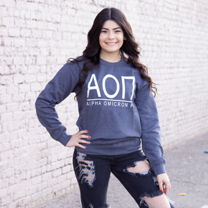 Greek Letter Sweatshirt *Available for multiple organizations