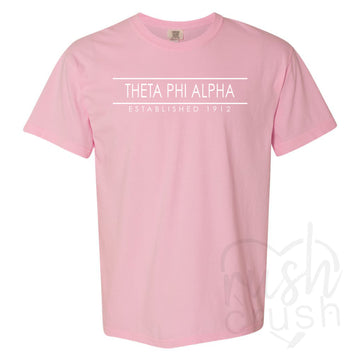 Theta Phi Alpha - Comfort Colors Established Bar T-Shirt