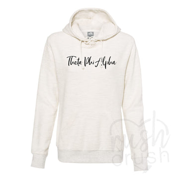Theta Phi Alpha - French Terry Lace-Up Hoodie