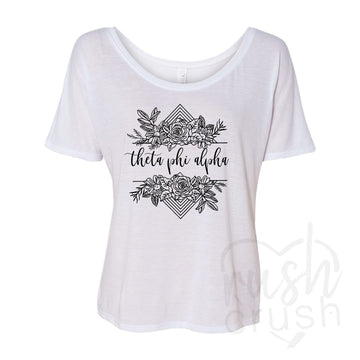 Theta Phi Alpha - Rose Bunch Slouchy T-Shirt